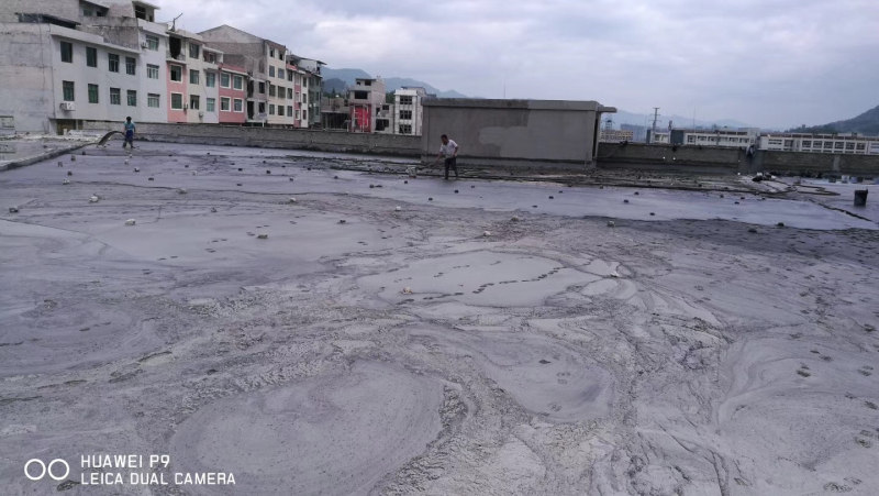 Floor pouring site