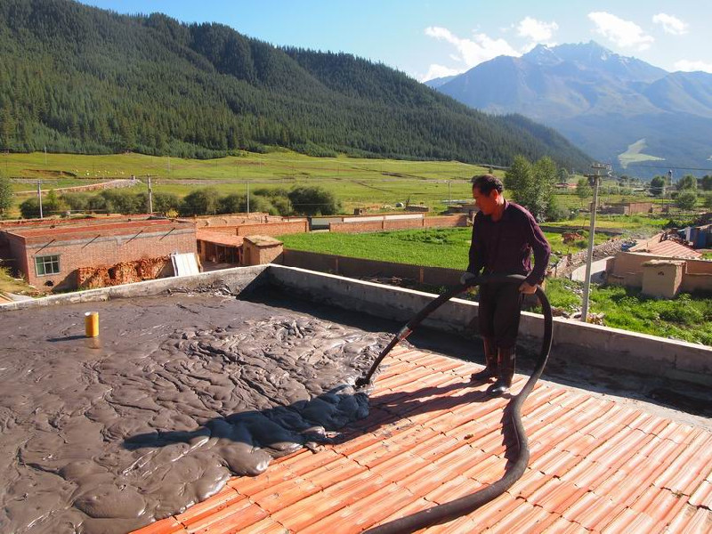 Roof Construction of Qilian Mountain in Qinghai Province