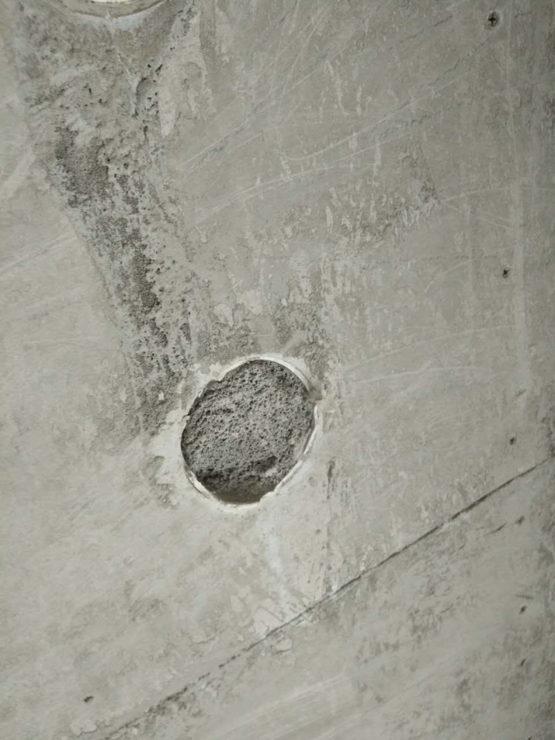 Foamed concrete wall casting inspection opening